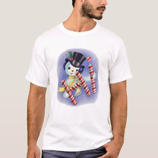 """Vintage Snowman """"Hi"""" T-shirt"""