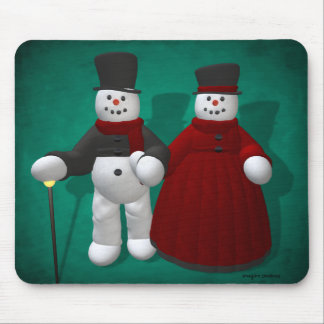 Vintage Snowmen: Lord & Lady Cool Mouse Pad