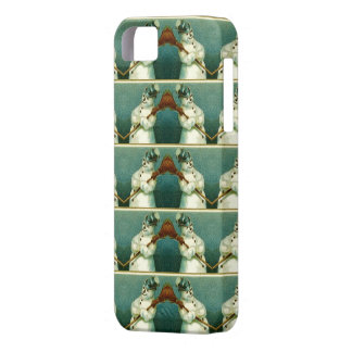 Vintage Snowmen Pattern Repeat iPhone 5 Case