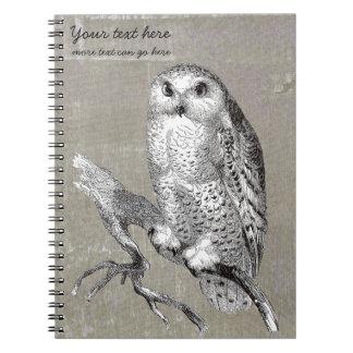 Vintage Snowy Owl Notebook