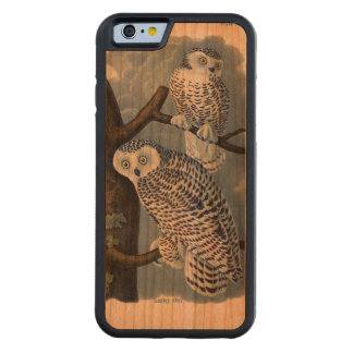 Vintage Snowy Owl Wooden iPhone 6 Case