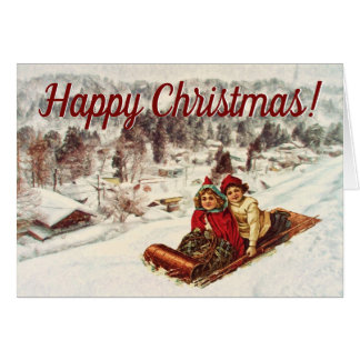 Vintage Snowy Victorian Christmas by Shawna Mac Card