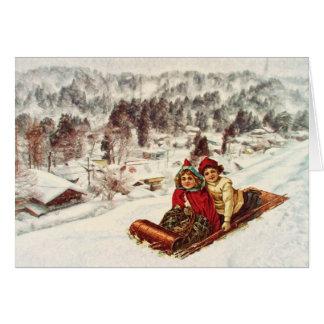 Vintage Snowy Victorian Christmas by Shawna Mac Card
