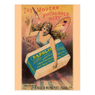 Vintage Soap Ad Fairy Postcard