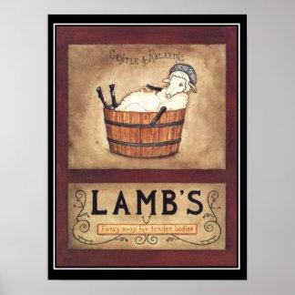 Vintage Soap Advertisement Poster