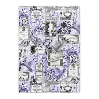 Vintage Soap and Perfume Labels - Lilac Acrylic Print