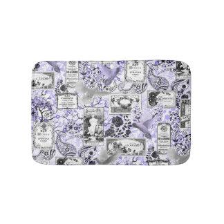 Vintage Soap and Perfume Labels - Lilac Bath Mat
