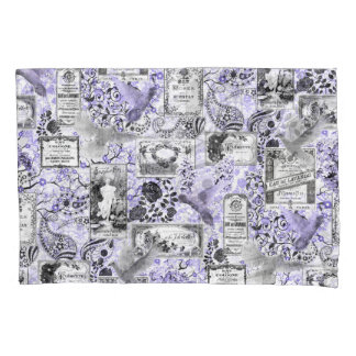 Vintage Soap and Perfume Labels - Lilac Pillowcase