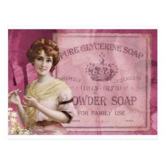 Vintage soap poster postcard