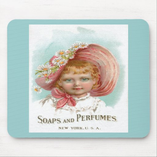 Vintage Soaps and Perfumes Advertisement Mousepads