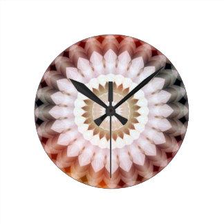 Vintage Soft Flower Kaleidoscope2 3500x3500 Clock