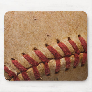 Vintage Softball Close-Up Customized Template Mouse Pad