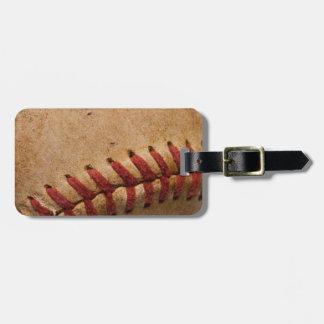 Vintage Softball - Sports Template Softballs Luggage Tag