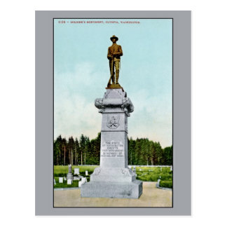 Vintage Soldier's Monument Olympia WA Postcard