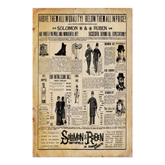 Vintage Solomon & Ruben Store Print