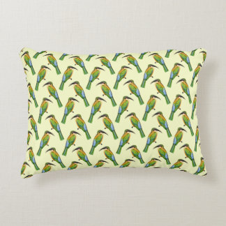 Vintage Somali Bee-Eater African Pattern Accent Pillow