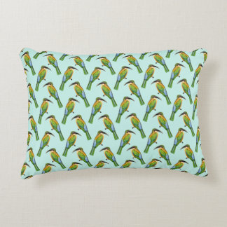 Vintage Somali Bee-Eater Bird Pattern Decorative Pillow
