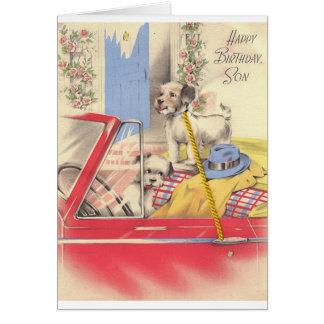 Vintage Son Birthday Card
