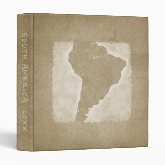 Vintage South America Map Vacation Photo Year Binder