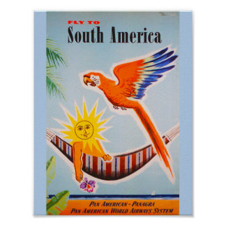 Vintage South America Travel Poster