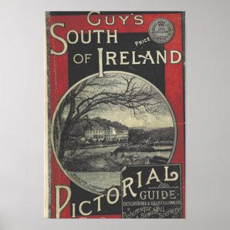 Vintage South Ireland Tourism Poster