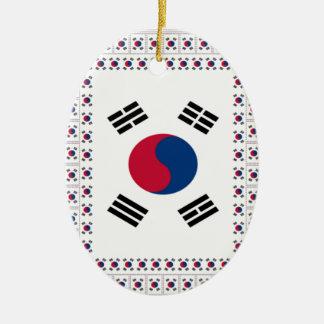 Vintage South Korea Ceramic Oval Ornament