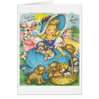 Vintage Southern Belle Mother's Day Card