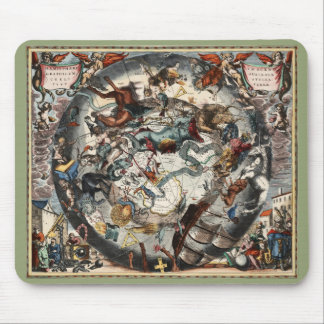 Vintage Southern Hemisphere Constellations Mouse Pad