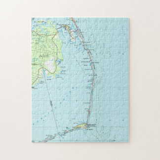 Vintage Southern Outer Banks Map (1957) Jigsaw Puzzle