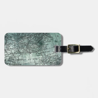 Vintage Southern USA States Gulf Region Map Luggage Tag