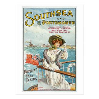 Vintage Southsea, Portsmouth travel advert Postcard