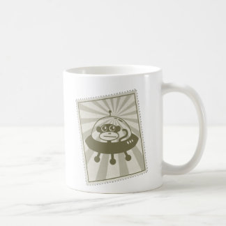 Vintage Space Monkey Stamp Mug With Logo