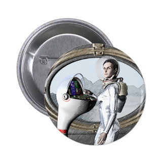 vintage spacegirl 2 inch round button