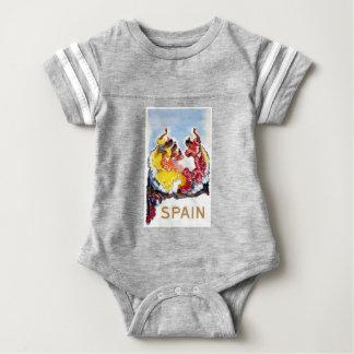 Vintage Spain Flamenco Dancers Travel Poster Baby Bodysuit