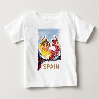 Vintage Spain Flamenco Dancers Travel Poster Baby T-Shirt
