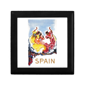 Vintage Spain Flamenco Dancers Travel Poster Gift Box