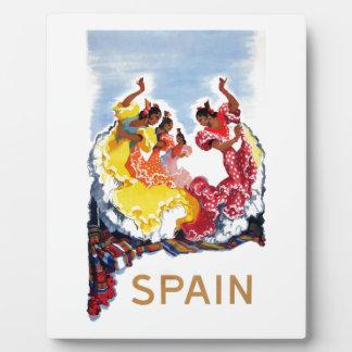Vintage Spain Flamenco Dancers Travel Poster Plaque