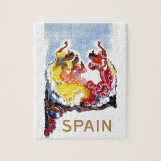 Vintage Spain Flamenco Dancers Travel Poster Puzzle