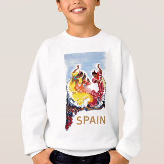 Vintage Spain Flamenco Dancers Travel Poster Sweatshirt