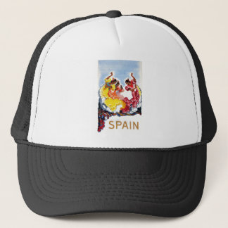 Vintage Spain Flamenco Dancers Travel Poster Trucker Hat