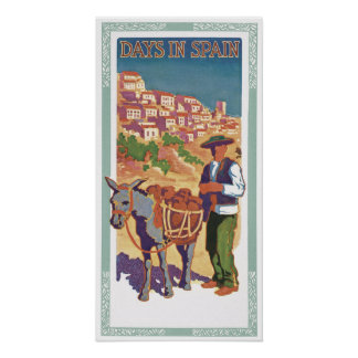 Vintage Spain Travel Ad Art Print Poster