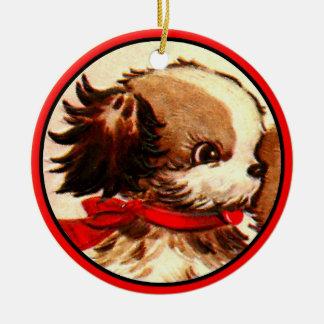 Vintage Spaniel Puppy Ornament