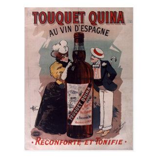 Vintage Spanish advertisement poster: wine Postcard