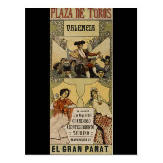 Vintage Spanish bullfighting Valencia Postcard