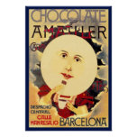 Vintage Spanish Chocolate Ad Poster