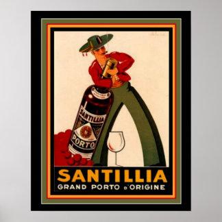 Vintage Spanish Deco Poster 16 x 20