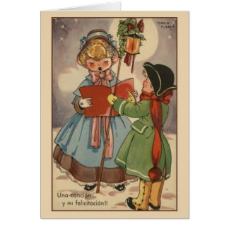 Vintage Spanish / Hispanic Christmas Greeting Card