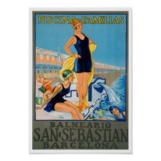 Vintage Spanish Resort Poster