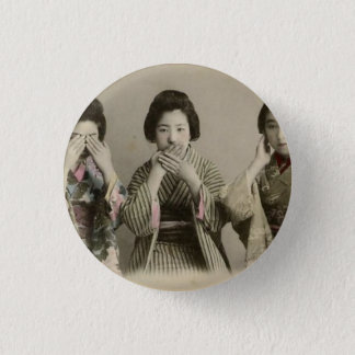 Vintage Speak No Evil 1 Inch Round Button