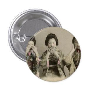 Vintage Speak No Evil 1 Inch Round Button
